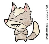 angry wolf cartoon | Shutterstock .eps vector #726124735