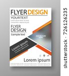 abstract flyer design... | Shutterstock .eps vector #726126235