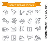 home repair icons  line flat... | Shutterstock .eps vector #726127504