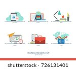 business and education icon set.... | Shutterstock .eps vector #726131401