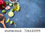 ingredients for cooking. olive... | Shutterstock . vector #726132595