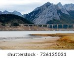 view of dry reservoir  with a... | Shutterstock . vector #726135031