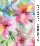 floral background. watercolor... | Shutterstock . vector #726137125