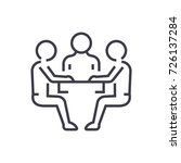 team strategy discussion vector ... | Shutterstock .eps vector #726137284