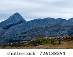 view of dry reservoir  with a... | Shutterstock . vector #726138391
