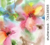 floral background. watercolor... | Shutterstock . vector #726138505