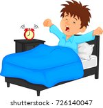 little boy wake up in the... | Shutterstock .eps vector #726140047