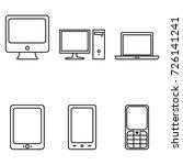 vector set of outline device... | Shutterstock .eps vector #726141241