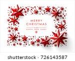 christmas frame made of cutout... | Shutterstock .eps vector #726143587
