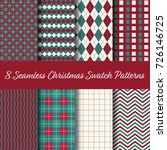 christmas seamless swatch... | Shutterstock .eps vector #726146725