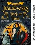 halloween trick or trick... | Shutterstock .eps vector #726149005