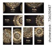 set of modern business card... | Shutterstock .eps vector #726150487