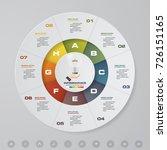 abstract 8 steps modern pie... | Shutterstock .eps vector #726151165
