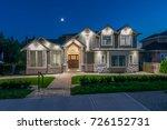 luxury house  home  at  dusk ... | Shutterstock . vector #726152731
