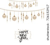 happy new year  wallpaper... | Shutterstock .eps vector #726152917