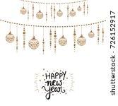 happy new year  wallpaper... | Shutterstock .eps vector #726152917