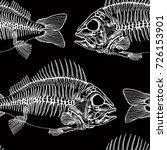 fish skeletons hand drawn... | Shutterstock .eps vector #726153901