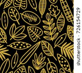 cute vector leaf seamless... | Shutterstock .eps vector #726154729
