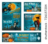 halloween banner set of autumn... | Shutterstock .eps vector #726157204
