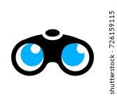 binoculars. vector. | Shutterstock .eps vector #726159115