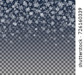 vector snowflakes falling on... | Shutterstock .eps vector #726160339