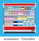 showcase fridge for cooling... | Shutterstock .eps vector #726162841