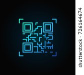 blue qr code scanning vector... | Shutterstock .eps vector #726164674