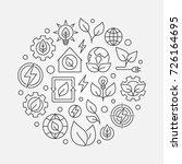 green energy outline... | Shutterstock .eps vector #726164695