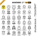 human diversity avatar line... | Shutterstock .eps vector #726165847