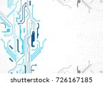 vector illustration  hi tech... | Shutterstock .eps vector #726167185