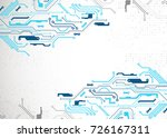 vector illustration  hi tech... | Shutterstock .eps vector #726167311