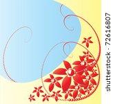 romantic flower background... | Shutterstock .eps vector #72616807