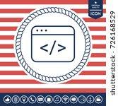 code editor icon | Shutterstock .eps vector #726168529