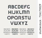 uppercase alphabet. futuristic... | Shutterstock .eps vector #726170029