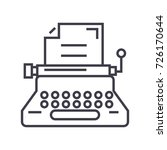 typewriter writer writing... | Shutterstock .eps vector #726170644