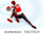 curling match curler athlete... | Shutterstock . vector #726173119