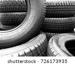 winter tires close up | Shutterstock . vector #726173935