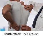 muscular man suffering from... | Shutterstock . vector #726176854