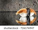 nigiri sushi with eel | Shutterstock . vector #726176947