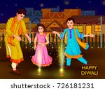 indian family people... | Shutterstock .eps vector #726181231
