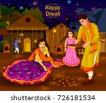 indian family people... | Shutterstock .eps vector #726181534
