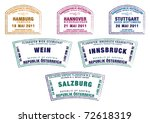 passport stamps from germany... | Shutterstock .eps vector #72618319