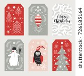 set of christmas and happy new... | Shutterstock .eps vector #726185164