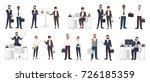 big collection of business... | Shutterstock .eps vector #726185359