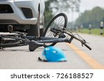 accident car crash with bicycle ... | Shutterstock . vector #726188527