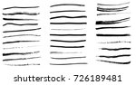 set of black paint  ink brush... | Shutterstock .eps vector #726189481