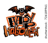 halloween poster.hand drawn... | Shutterstock .eps vector #726189961