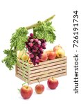 a bunch of grapes from felted... | Shutterstock . vector #726191734