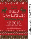 ugly sweater christmas party... | Shutterstock .eps vector #726193219
