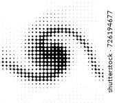 grunge black and white dots... | Shutterstock .eps vector #726194677